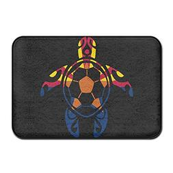 Arizona Flag Soccer Sea Turtle Indoor Outdoor Entrance Rug N
