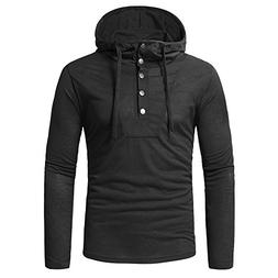 Moserian Fashion Men's Autumn Fastener Long Sleeved Hoodie S
