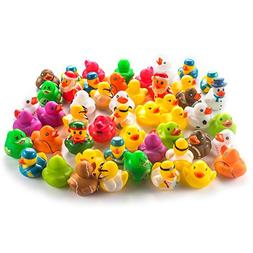 Fun Central AY771 50ct 2 Inch Rubber Ducks Toy Bulk, Miniatu
