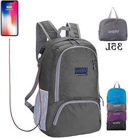 Backpack With USB Charging Port - Vitino Water Resistant Lig