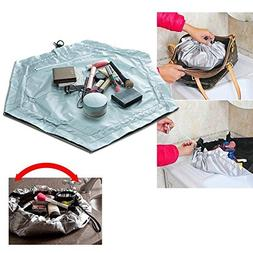 2 In 1 Travel Cosmetic Makeup Bag Work Mat Pouch Case Storag