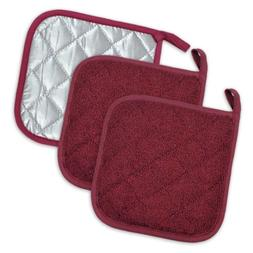 Baking Terry Cloth Potholder Kitchen Cooking Oven Mitt Hot P