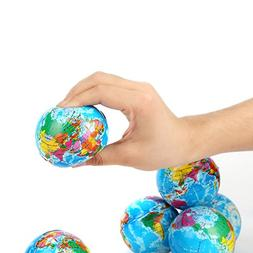 Fun Central BC735 12 pcs, 3 inches Globe Squeeze Ball, Stres