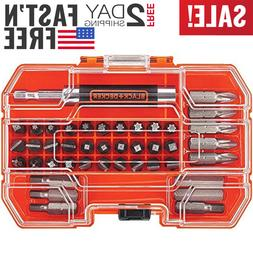BLACK+DECKER BDA42SD 42-Piece Standard Screwdriver Bit Set,n