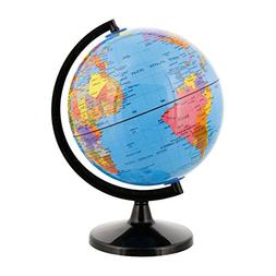 "TCP Global 6""  Blue Ocean Desktop World Globe Black Base"