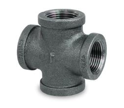 Everflow Supplies BMCR0012 Black Malleable Cross Fitting, 1/
