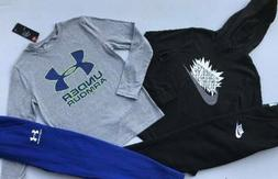 BOY'S SIZE MEDIUM  UNDER ARMOUR & NIKE SHIRTS/PANTS OUTFITS