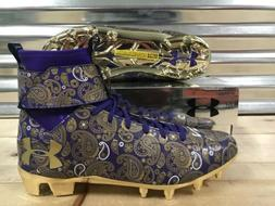 Under Armour C1N MC LE Paisley Football Cleats Cam Purple Go