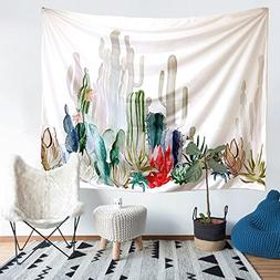 Cactus Tapestry, Arfbear wall hangings yellow and green wate