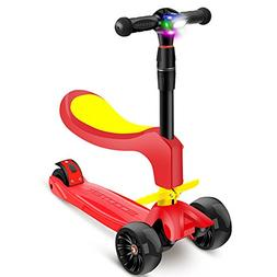 Scooters Children's Can Sit 4 Rounds 2-12 Years Old Preschoo
