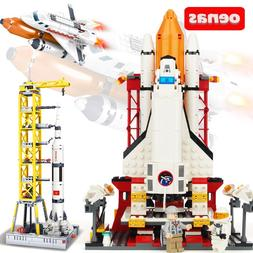 City compatible Legoed space shuttle Launcher Saturn V Space