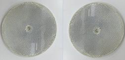 """4"""" Clear Round Front Reflector White Pack of 2 for Trailers"""