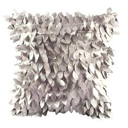 Clearance!Polyester Square Leaves Feather Pillow Cover Cases