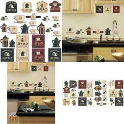 coffee house peel and stick wall decals