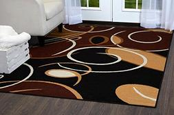 """Home Dynamix Premium Collection Scatter Area Rug, Ebony, 21"""""""