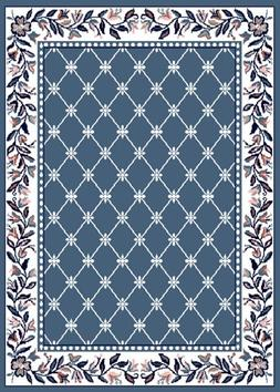 Home Dynamix Premium Collection Scatter Area Rug, Country Bl