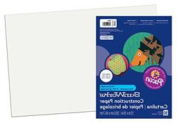 Construction Paper, 58 Lbs, 9 X 12, Bright White, 50 Sheets/
