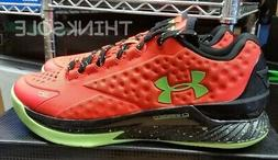 UNDER ARMOUR CURRY 1 LOW 1269048-811 SIZE 10 ORANGE FLAMBOUA