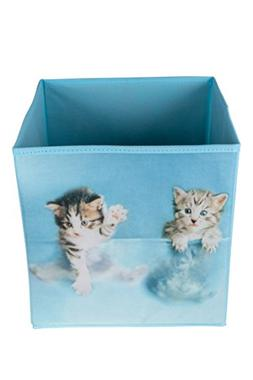Clever Creations Cute Kittens Collapsible Storage Organizer