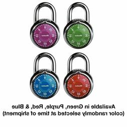 Master Lock Colored Dial Combination Padlock - 3 Digit - Sta