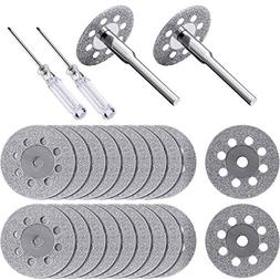 Hestya 20 Pieces 22 mm Diamond Cutting Wheel with 4 Pieces 3