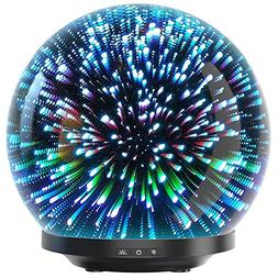 Essential Oil Diffuser - 3D Glass 230ml Galaxy Premium Ultra