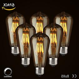 LED Dimmable Vintage Edison Led Bulbs 6W Antique Style Ediso