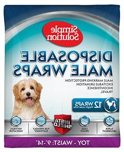 Simple Solution Disposable Male Dog Diaper Belly Band, 12 Co