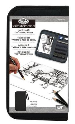 Drawing and Sketching Pencil Set In Zippered Carrying Case