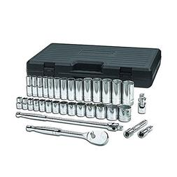 "GearWrench 33-piece 1/2"" Drive SAE 6pt Std/Deep Socket Set"