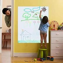 Coavas Removable Whiteboard Sticker for Kids Dry Erase White