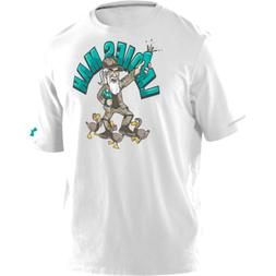Under Armour Duck Commander Uncle Si Tee in White, Large