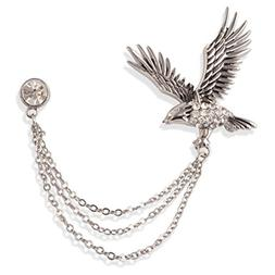 S&E Men's Elegant Lapel Pin badge with Chains Brooch Pin for