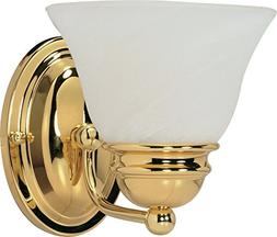 Empire Wall Sconce in Polished Brass