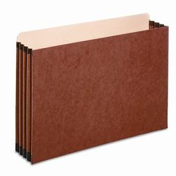 3 1/2 Inch Expansion File Pocket, Straight, Legal, Redrope,