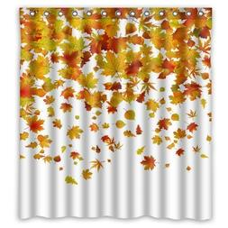 66 x 72 Falling Maple Leaves Waterproof Polyester Fabric Bat