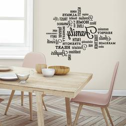 Family Quote Peel and Stick Wall Decal