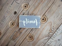 Family wooden sign. Great gifts under 10. Rustic home decor.