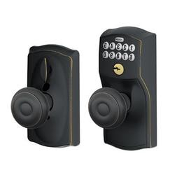 Schlage FE595-CAM-GEO Keyless Entry Camelot Knobset Electron