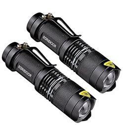ROCKBIRDS LED Flashlights  - with Belt Clip, Fluorescent Rin