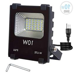 W-LITE 10W LED Flood Light, Super Bright 60 LED, Soft Daylig