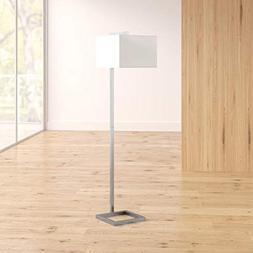 "64"" Floor Lamp - Minimal Frame with Square Fabric Shade - Gr"