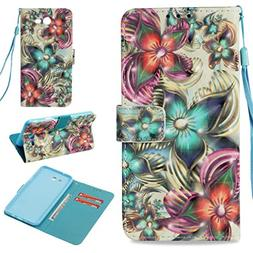 Galaxy J7 2017 Case,Fashion Magnetic Closure Pu Leather 3D P