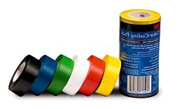 3M General Purpose Vinyl Tape Color Coding Pack, 6-Roll