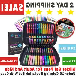 Glitter Gel Pens For Adult And Kids Under 10 Coloring Books