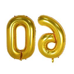 40inch Gold Number 60 Balloon Party Festival Decorations Bir
