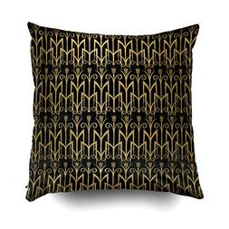 Musesh golden egyptian wheat color barley art deco Cushions