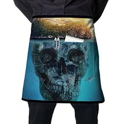 XiHuan Grill Aprons Kitchen Chef Bib Fantastic Tropical Isla