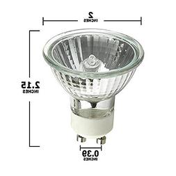STERL LIGHTING SL-0284 - PACK OF 6-50 WATT, GU10 BASE, 120 V