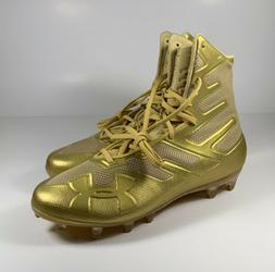 UNDER ARMOUR Highlight MC Football Cleats Gold Size 10 *NEW*